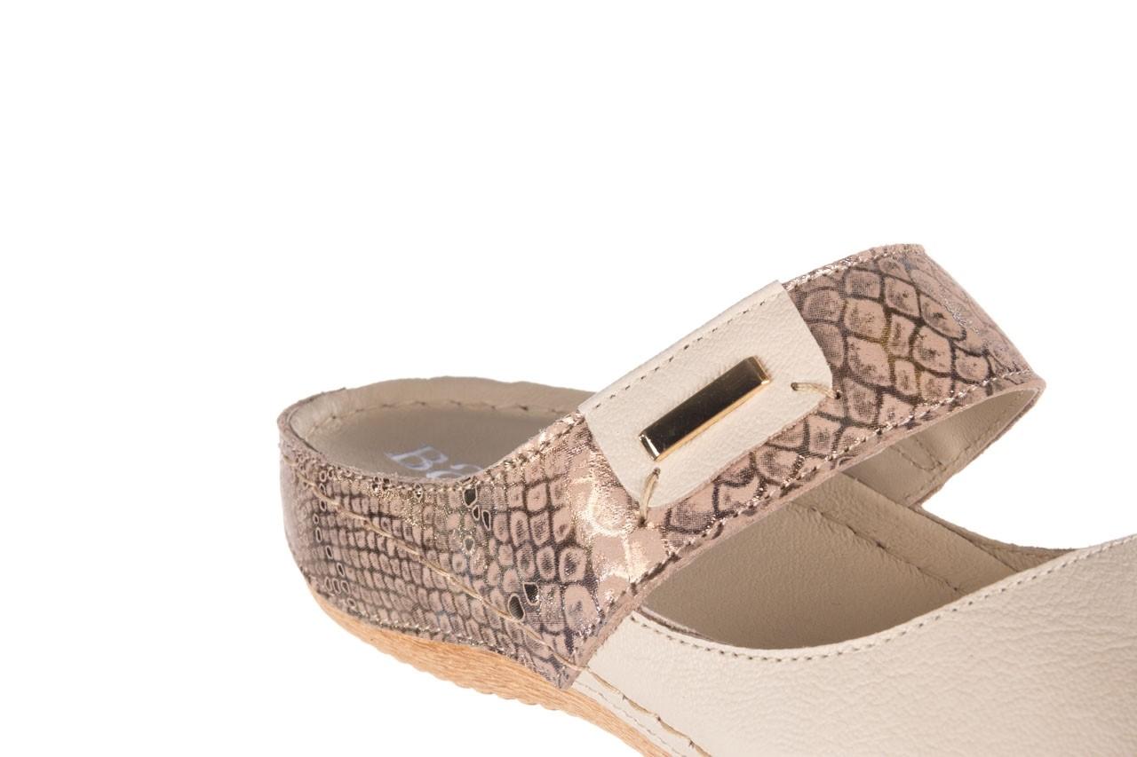 Klapki bayla-100 450 beż, skóra naturalna  - klapki - buty damskie - kobieta 13