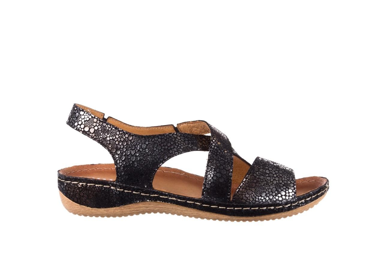 Sandały bayla-100 449 czarny srebrny, skóra naturalna  - dla niej  - sale 7