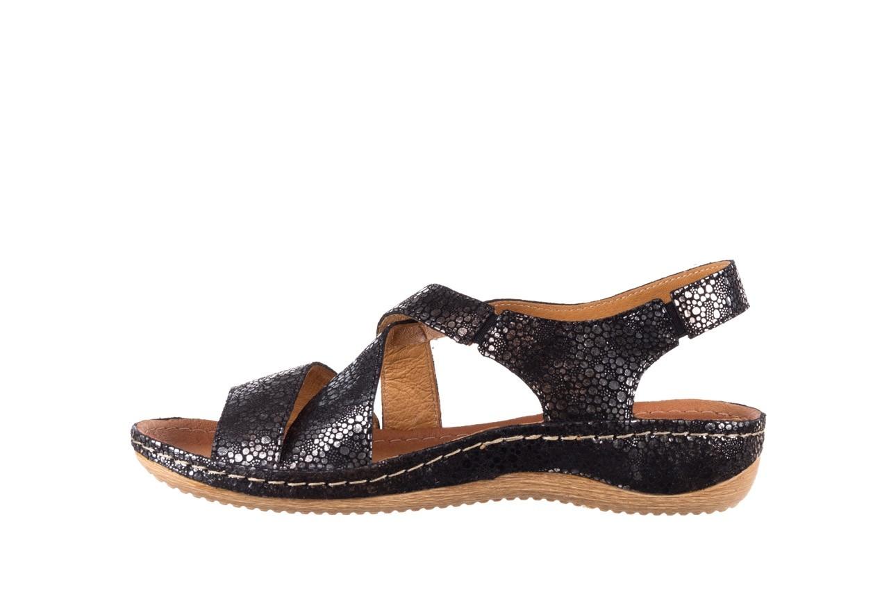 Sandały bayla-100 449 czarny srebrny, skóra naturalna  - dla niej  - sale 9