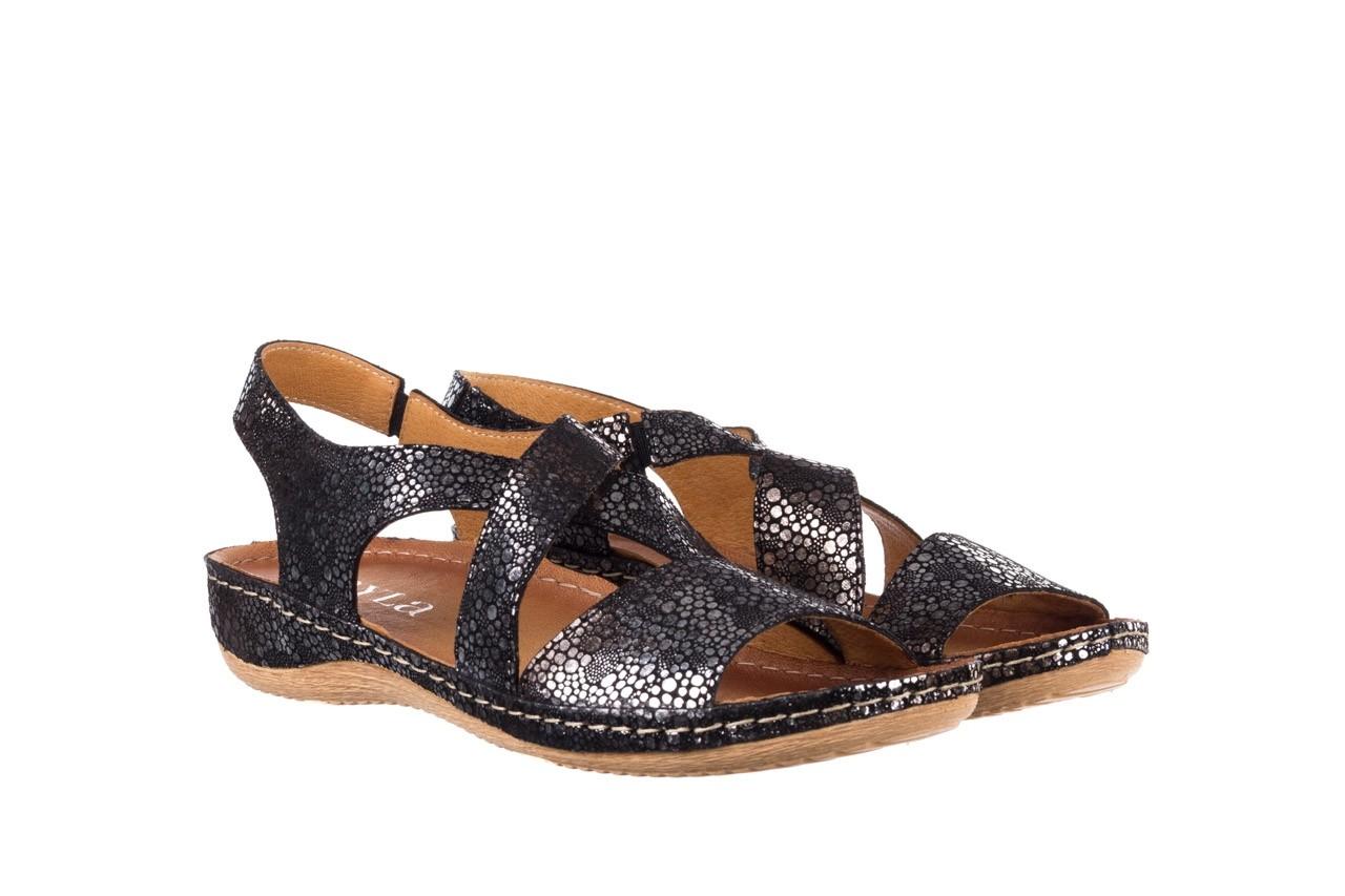 Sandały bayla-100 449 czarny srebrny, skóra naturalna  - dla niej  - sale 8