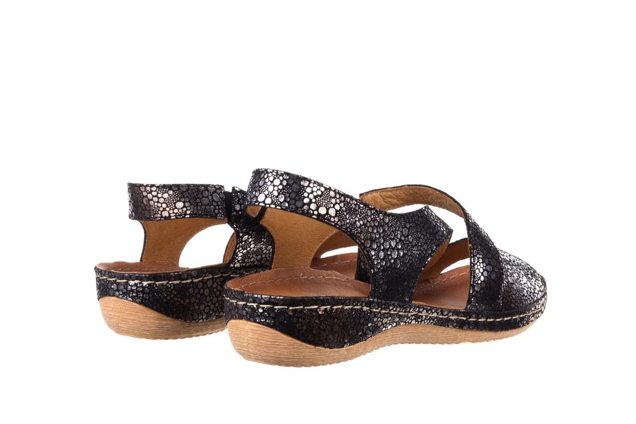 Sandały bayla-100 449 czarny srebrny, skóra naturalna  - dla niej  - sale 10