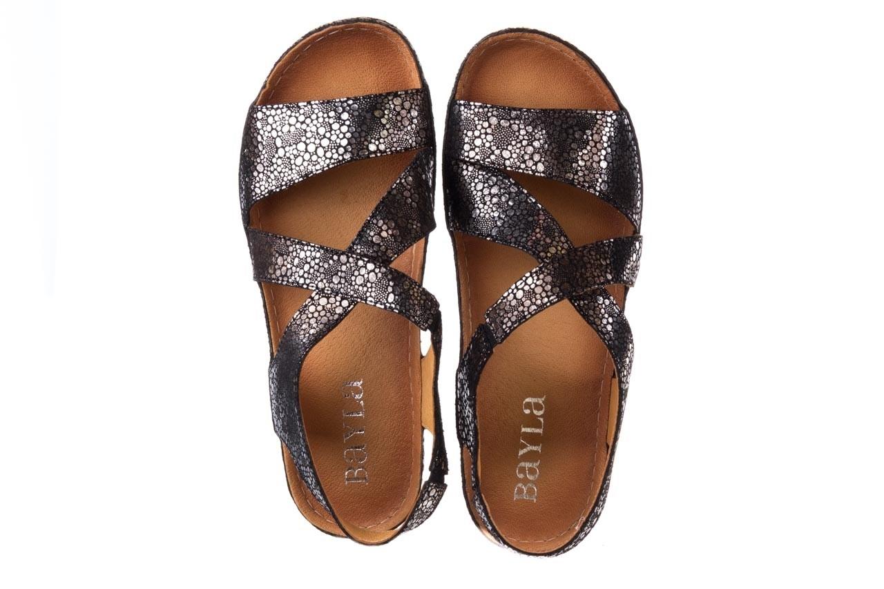 Sandały bayla-100 449 czarny srebrny, skóra naturalna  - dla niej  - sale 11