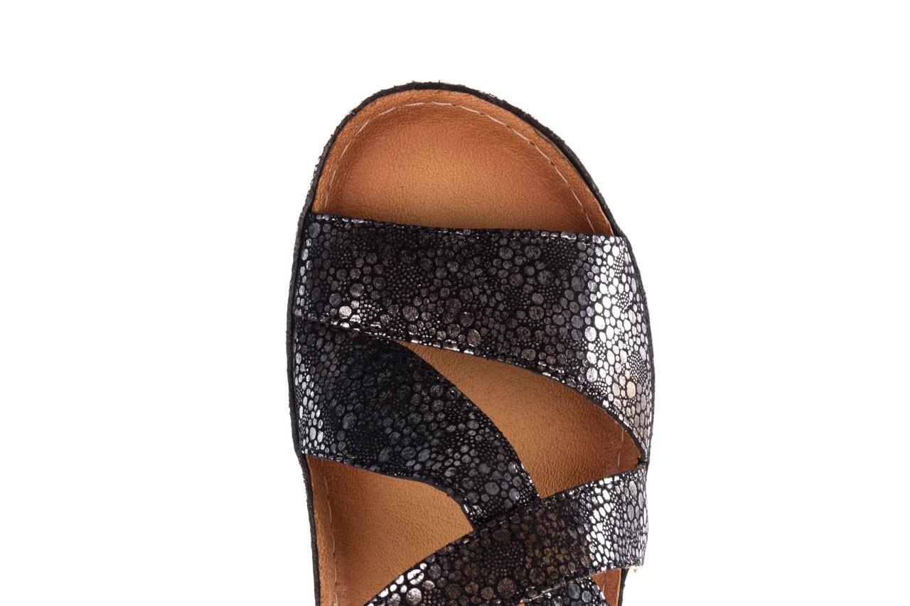 Sandały bayla-100 449 czarny srebrny, skóra naturalna  - dla niej  - sale 12
