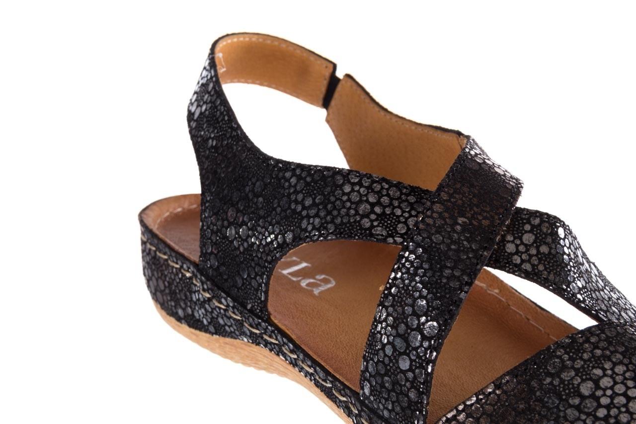 Sandały bayla-100 449 czarny srebrny, skóra naturalna  - dla niej  - sale 13