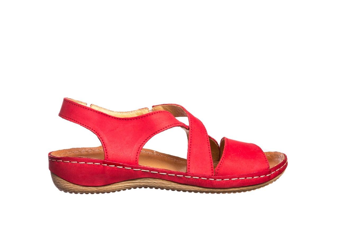 Sandały bayla-100 449 czerwony, skóra naturalna - dla niej  - sale 8