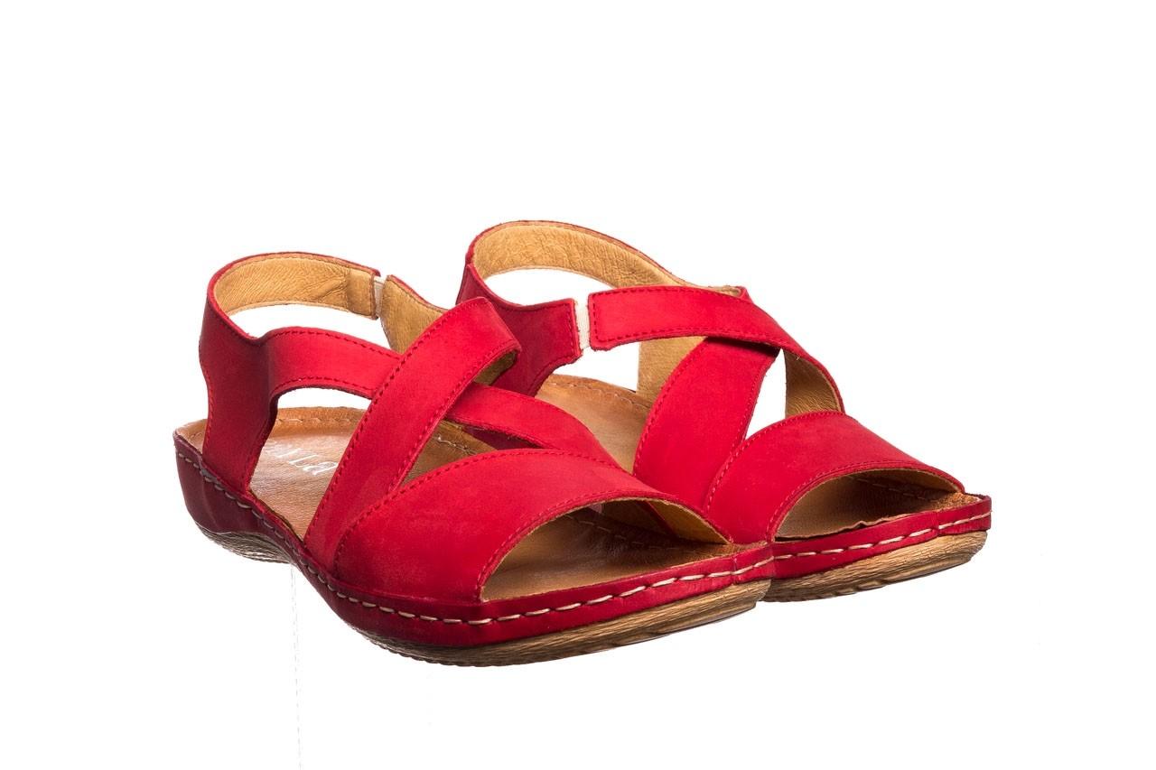 Sandały bayla-100 449 czerwony, skóra naturalna - dla niej  - sale 9