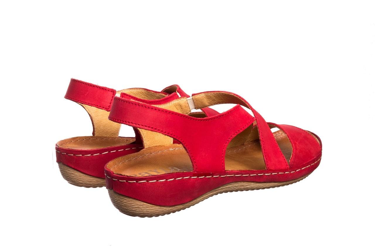 Sandały bayla-100 449 czerwony, skóra naturalna - dla niej  - sale 11