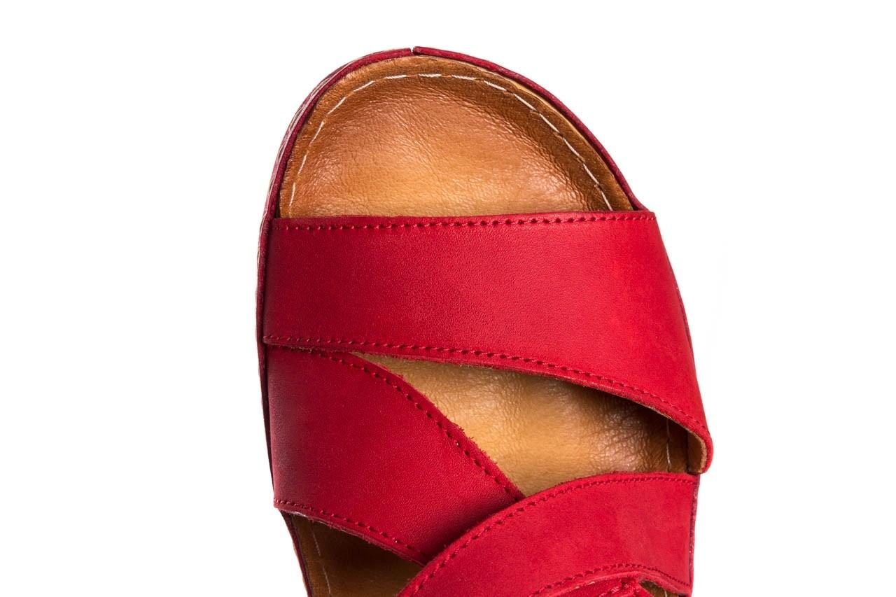 Sandały bayla-100 449 czerwony, skóra naturalna - dla niej  - sale 13