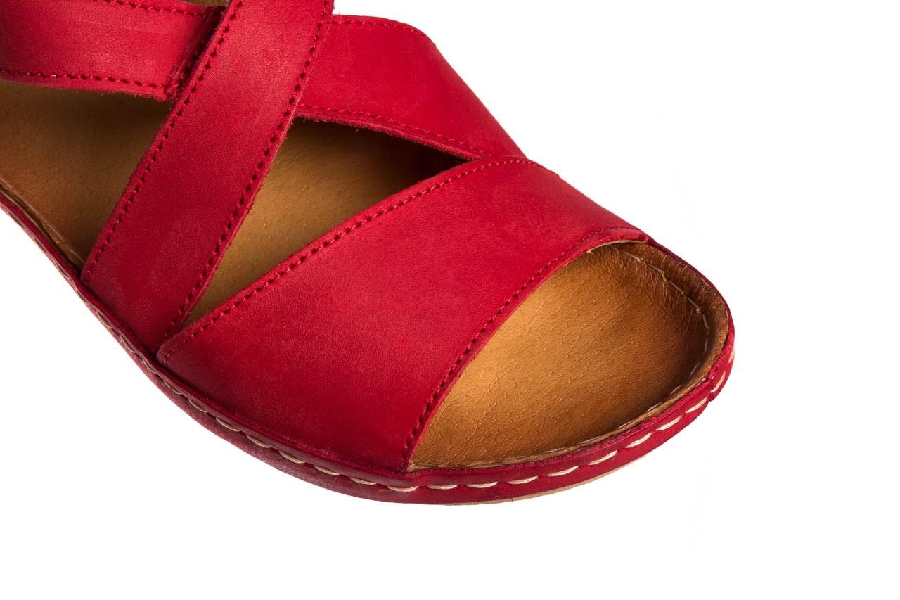 Sandały bayla-100 449 czerwony, skóra naturalna - dla niej  - sale 14