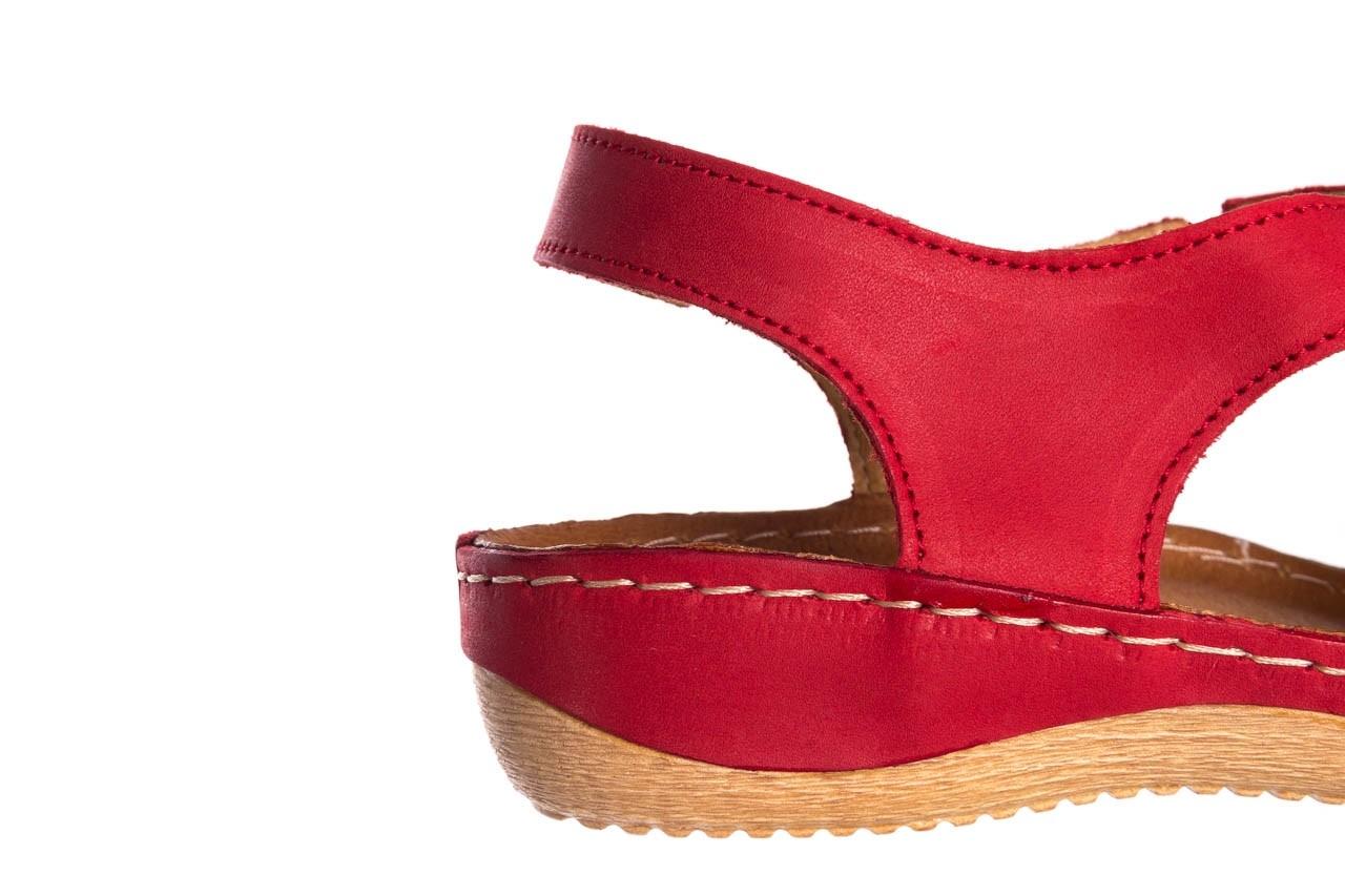 Sandały bayla-100 449 czerwony, skóra naturalna - dla niej  - sale 15