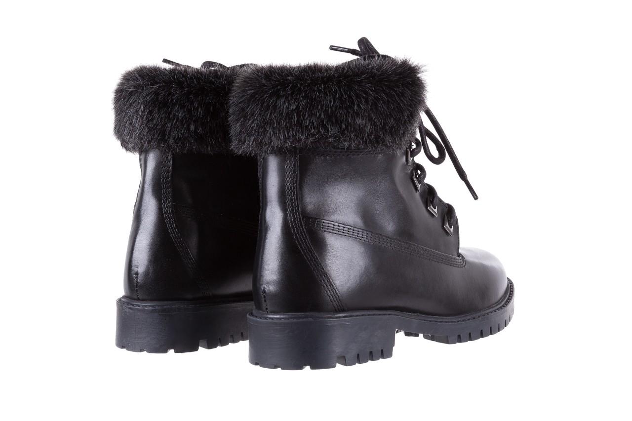 Trzewiki bayla-164 tim 5203 black 164003, czarny, skóra naturalna  - trzewiki - buty damskie - kobieta 10