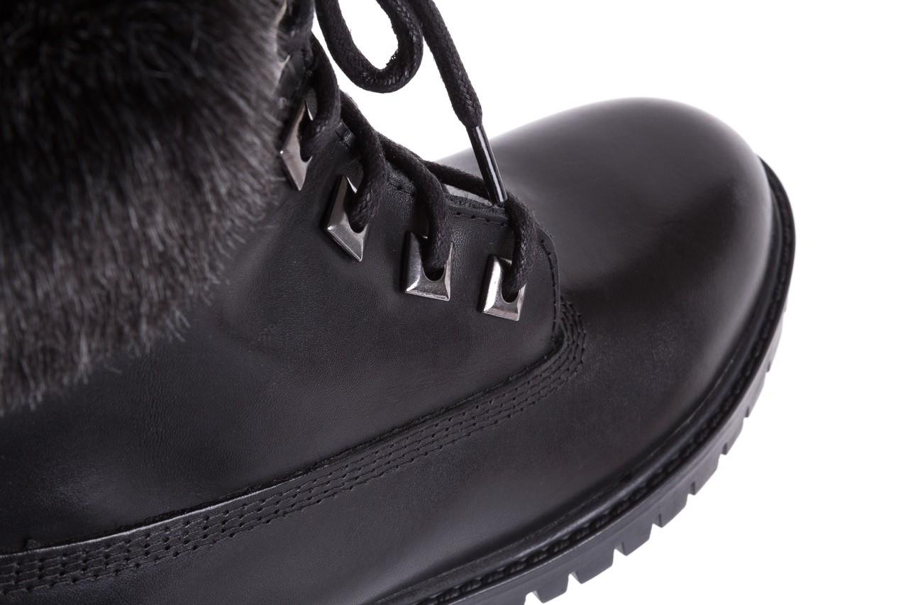 Trzewiki bayla-164 tim 5203 black 164003, czarny, skóra naturalna  - trzewiki - buty damskie - kobieta 13
