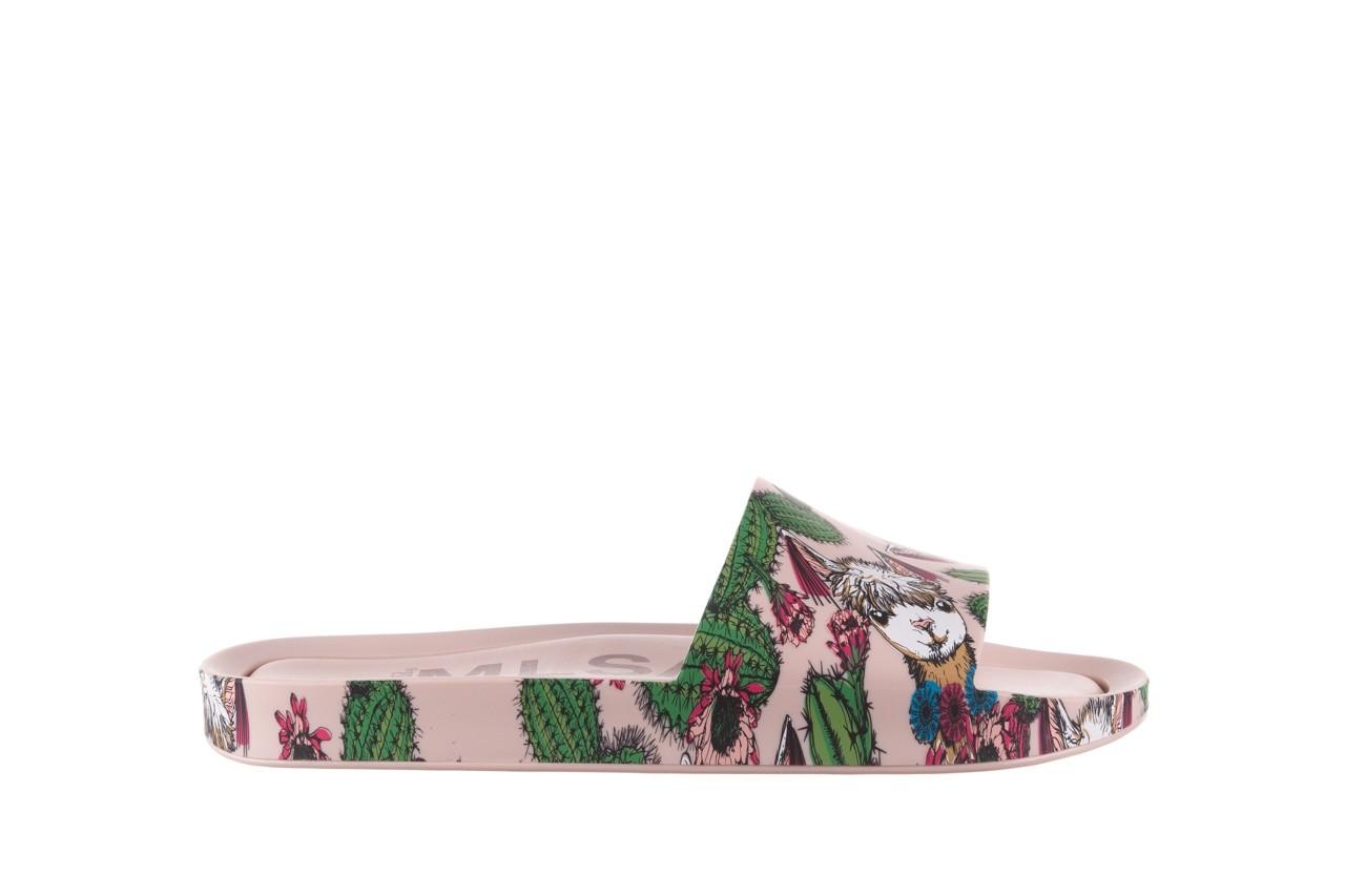Klapki melissa beach slide 3db iv ad pink green, róż, guma - dla niej  - sale 8