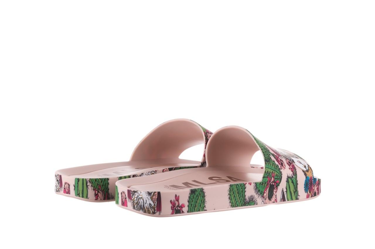 Klapki melissa beach slide 3db iv ad pink green, róż, guma - dla niej  - sale 11
