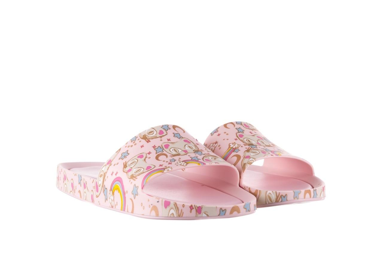 Klapki melissa beach slide 3db iv ad pink gold, róż, guma - klapki - buty damskie - kobieta 9