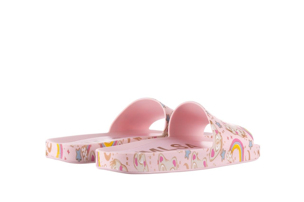 Klapki melissa beach slide 3db iv ad pink gold, róż, guma - klapki - buty damskie - kobieta 11