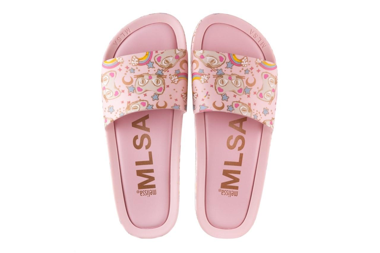 Klapki melissa beach slide 3db iv ad pink gold, róż, guma - klapki - buty damskie - kobieta 12