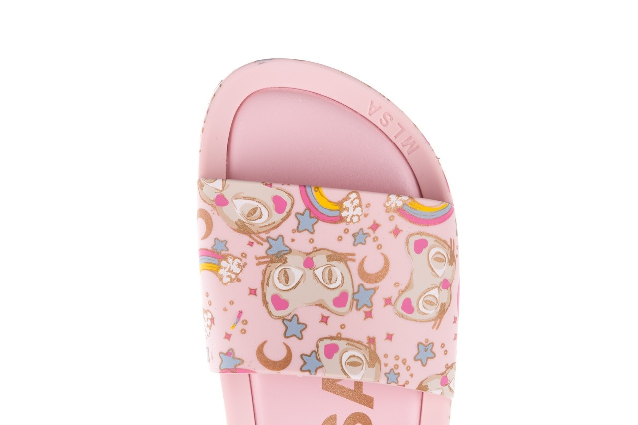 Klapki melissa beach slide 3db iv ad pink gold, róż, guma - gumowe/plastikowe - klapki - buty damskie - kobieta 14