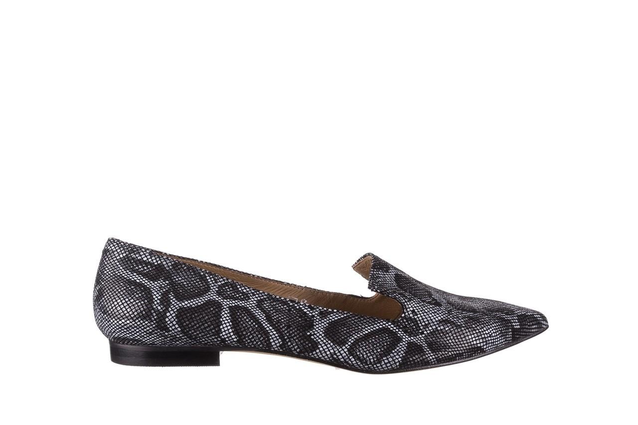 Półbuty bayla-188 001 jaszczurka szary, skóra naturalna - mokasyny i lordsy - półbuty - buty damskie - kobieta 7