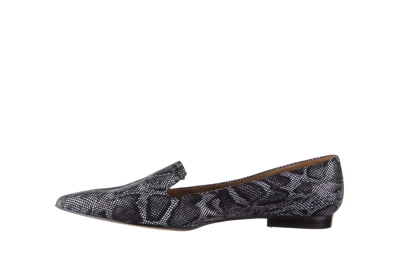 Półbuty bayla-188 001 jaszczurka szary, skóra naturalna - mokasyny i lordsy - półbuty - buty damskie - kobieta 9