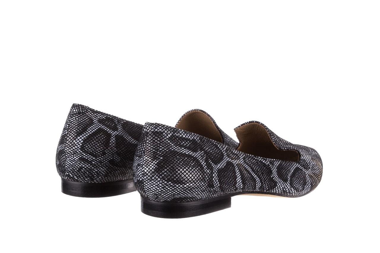 Półbuty bayla-188 001 jaszczurka szary, skóra naturalna - mokasyny i lordsy - półbuty - buty damskie - kobieta 10