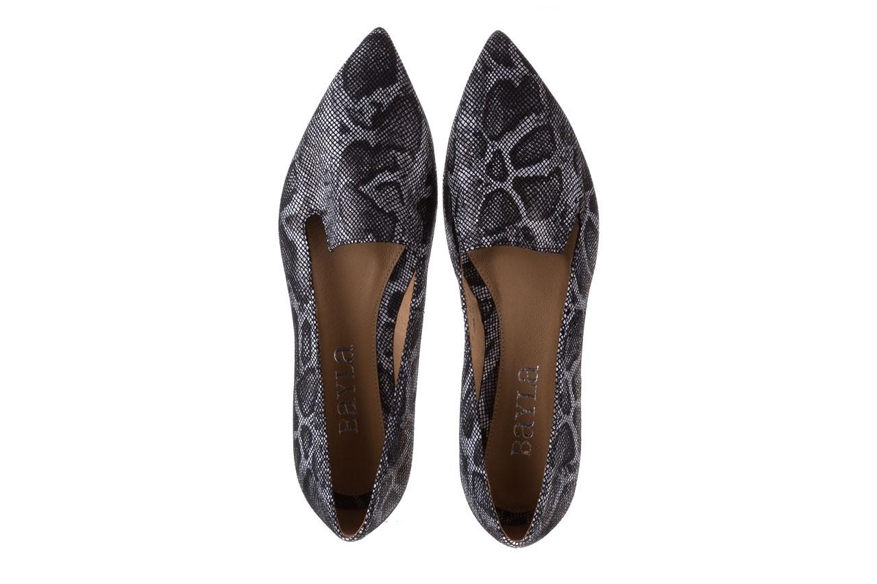 Półbuty bayla-188 001 jaszczurka szary, skóra naturalna - mokasyny i lordsy - półbuty - buty damskie - kobieta 11