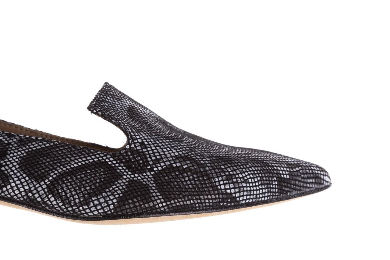 Półbuty bayla-188 001 jaszczurka szary, skóra naturalna - mokasyny i lordsy - półbuty - buty damskie - kobieta 13