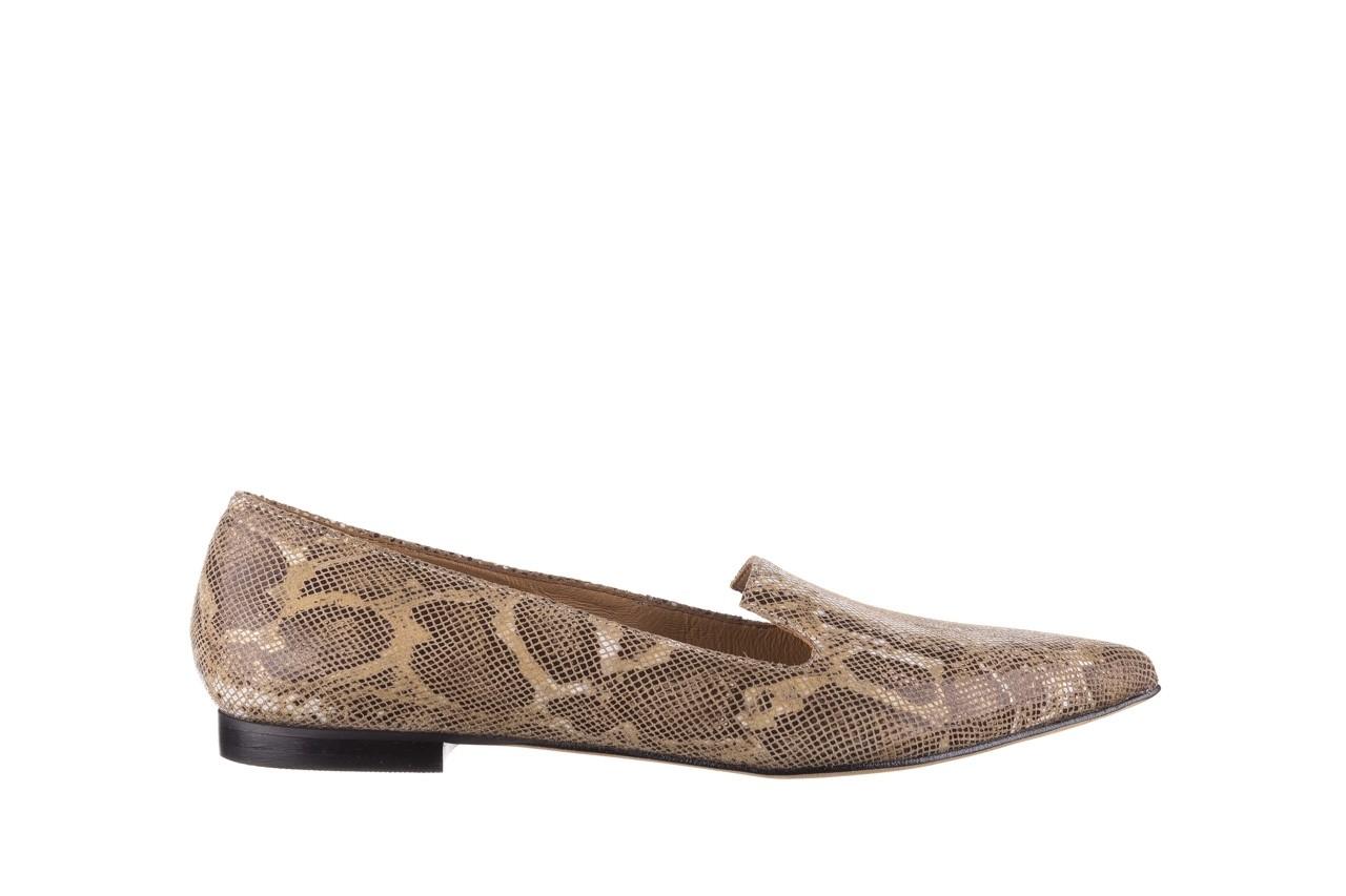 Półbuty bayla-188 001 jaszczurka beż, skóra naturalna  - mokasyny i lordsy - półbuty - buty damskie - kobieta 7