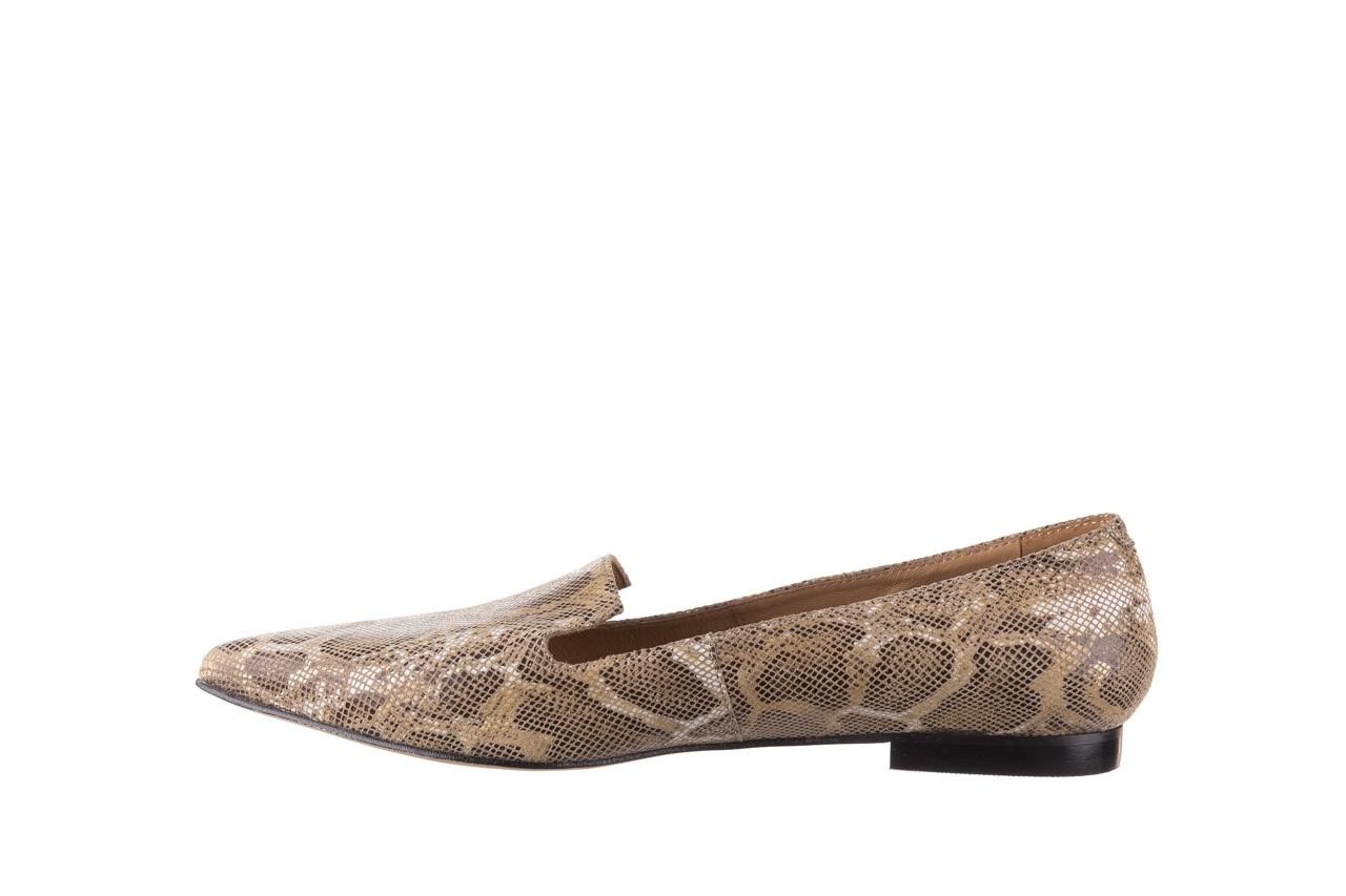 Półbuty bayla-188 001 jaszczurka beż, skóra naturalna  - mokasyny i lordsy - półbuty - buty damskie - kobieta 9