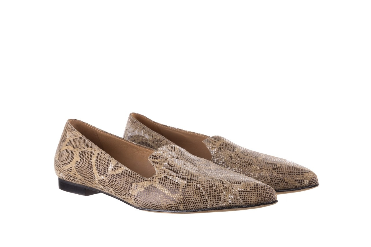 Półbuty bayla-188 001 jaszczurka beż, skóra naturalna  - mokasyny i lordsy - półbuty - buty damskie - kobieta 8