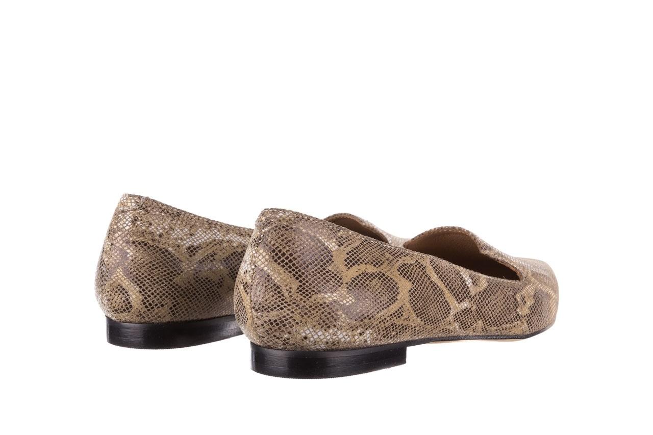 Półbuty bayla-188 001 jaszczurka beż, skóra naturalna  - mokasyny i lordsy - półbuty - buty damskie - kobieta 10