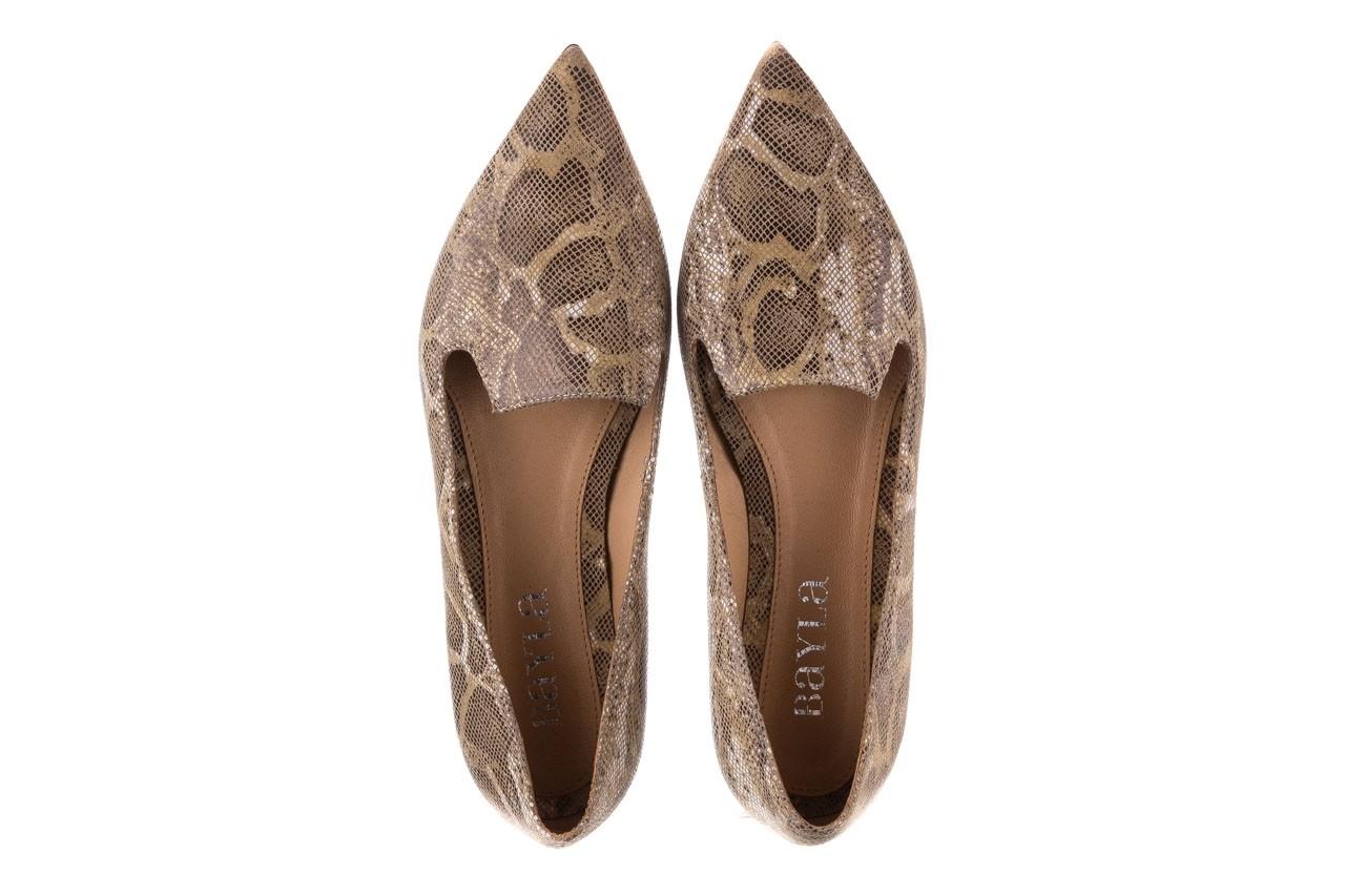 Półbuty bayla-188 001 jaszczurka beż, skóra naturalna  - mokasyny i lordsy - półbuty - buty damskie - kobieta 11