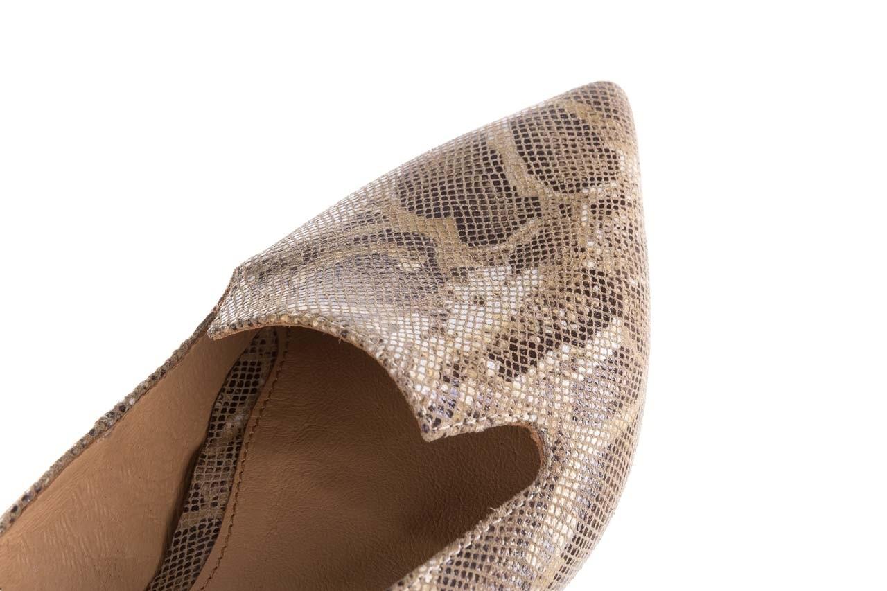 Półbuty bayla-188 001 jaszczurka beż, skóra naturalna  - mokasyny i lordsy - półbuty - buty damskie - kobieta 12