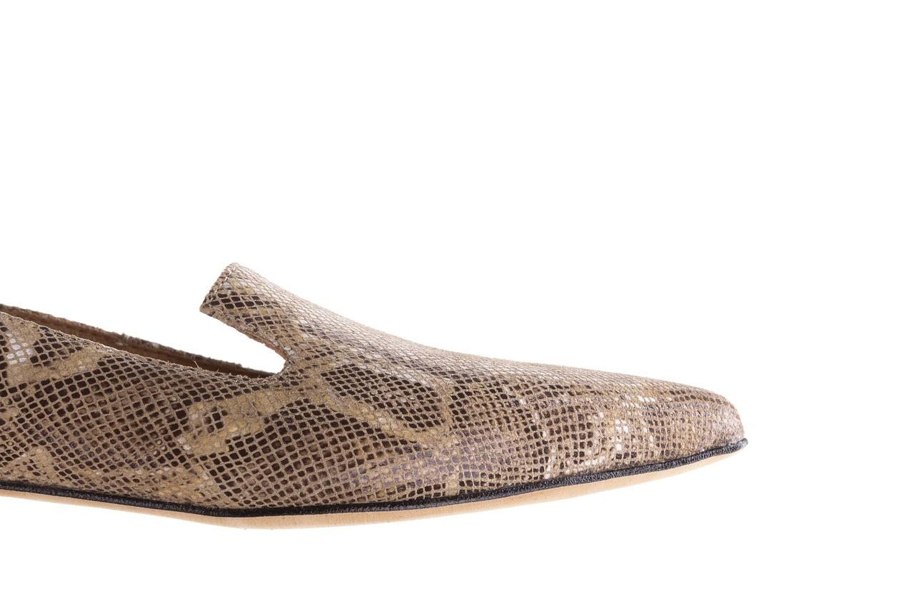 Półbuty bayla-188 001 jaszczurka beż, skóra naturalna  - mokasyny i lordsy - półbuty - buty damskie - kobieta 13