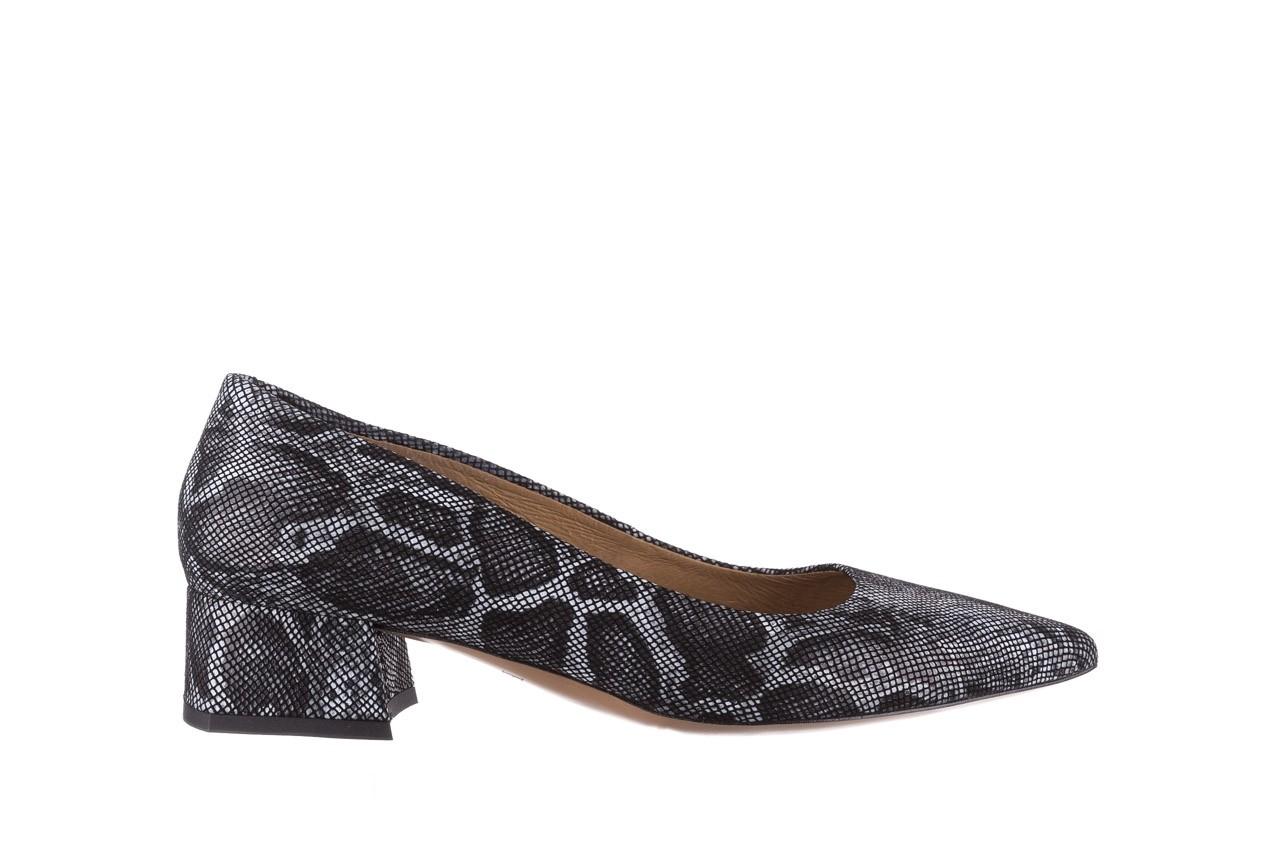 Czółenka bayla-188 002 jaszczurka szary, skóra naturalna  - czółenka - buty damskie - kobieta 7