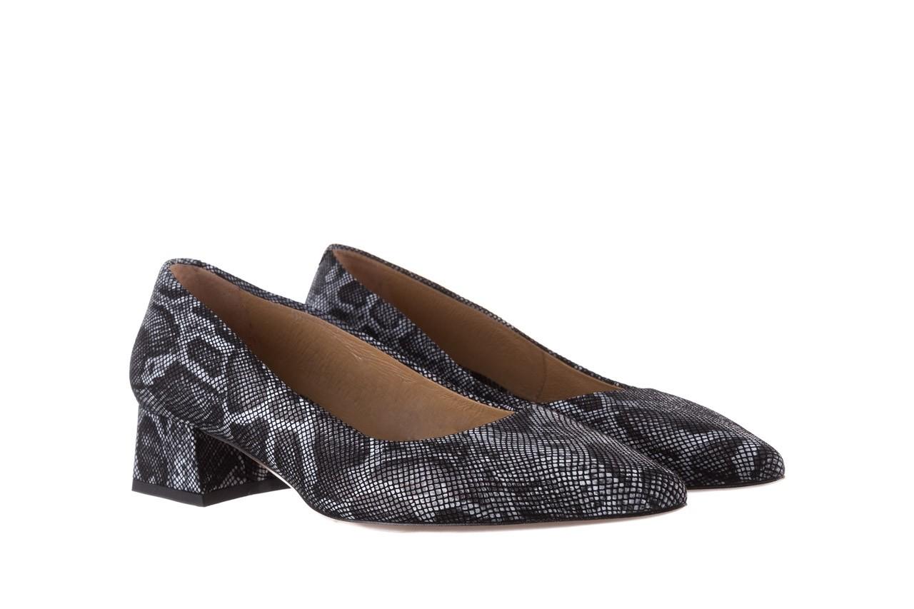 Czółenka bayla-188 002 jaszczurka szary, skóra naturalna  - czółenka - buty damskie - kobieta 8