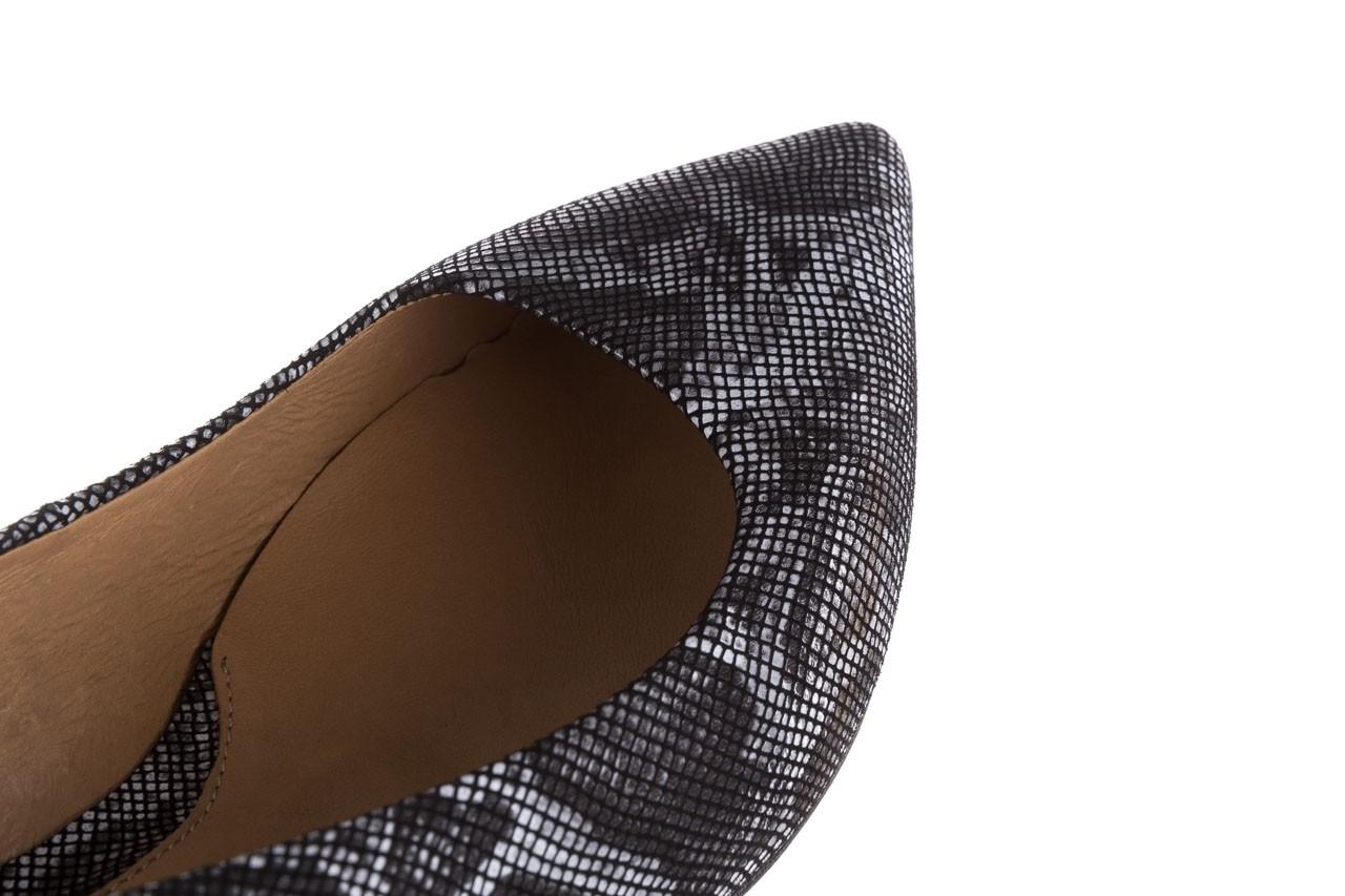 Czółenka bayla-188 002 jaszczurka szary, skóra naturalna  - czółenka - buty damskie - kobieta 12
