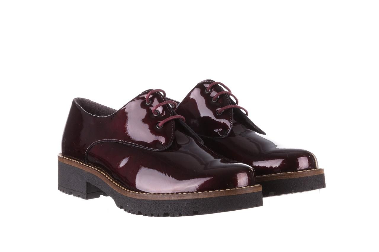Półbuty pitillos 5790 burdeos, bordowy, skóra naturalna lakierowana  - na obcasie - półbuty - buty damskie - kobieta 12