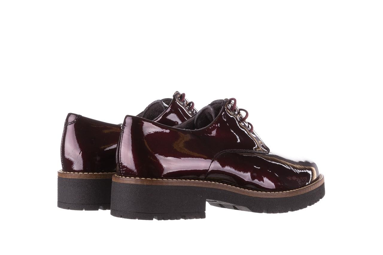 Półbuty pitillos 5790 burdeos, bordowy, skóra naturalna lakierowana  - na obcasie - półbuty - buty damskie - kobieta 15