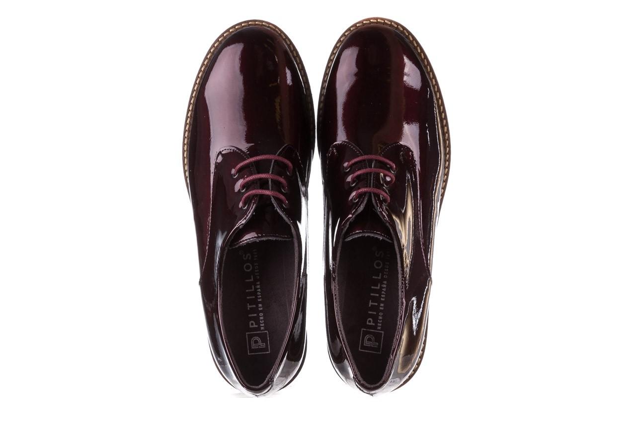Półbuty pitillos 5790 burdeos, bordowy, skóra naturalna lakierowana  - na obcasie - półbuty - buty damskie - kobieta 16