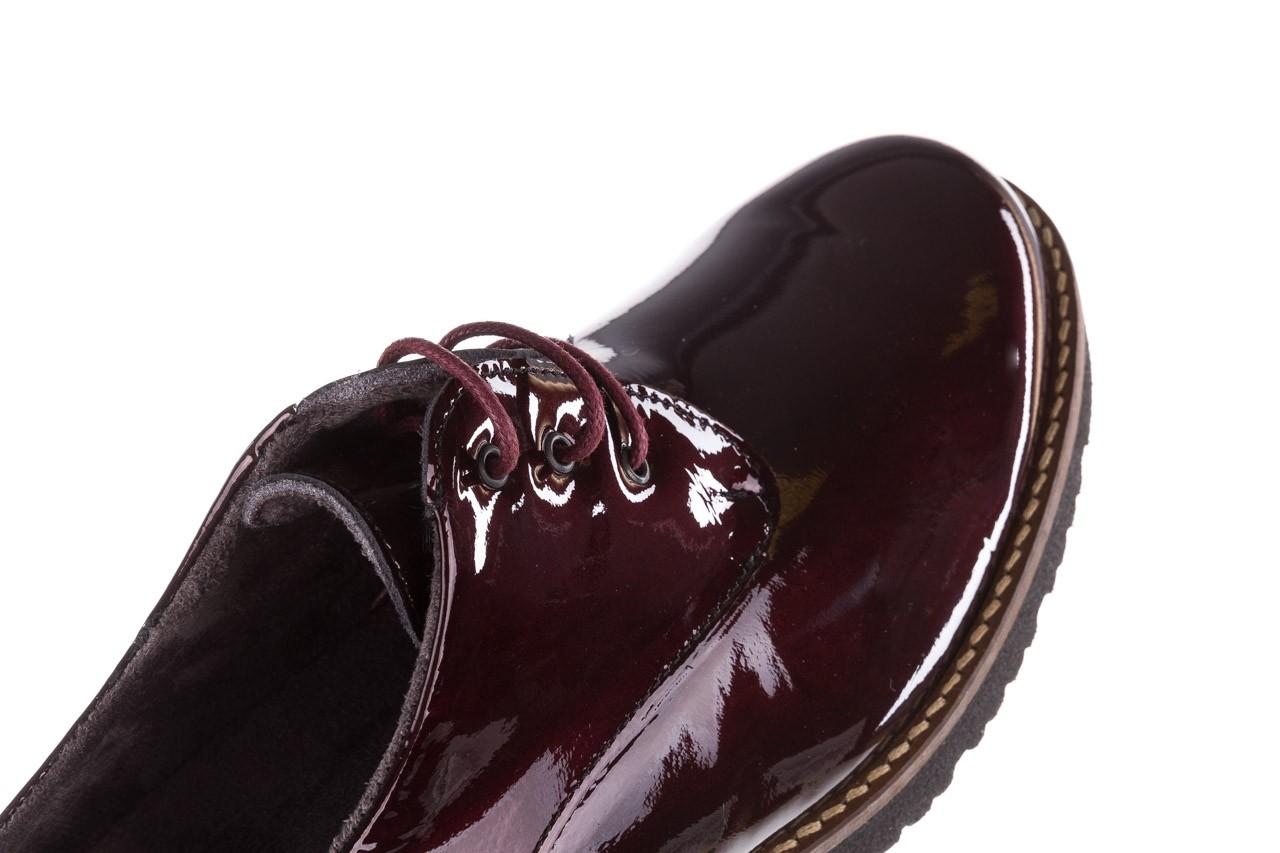 Półbuty pitillos 5790 burdeos, bordowy, skóra naturalna lakierowana  - na obcasie - półbuty - buty damskie - kobieta 17