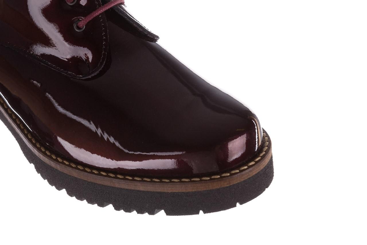 Półbuty pitillos 5790 burdeos, bordowy, skóra naturalna lakierowana  - na obcasie - półbuty - buty damskie - kobieta 19