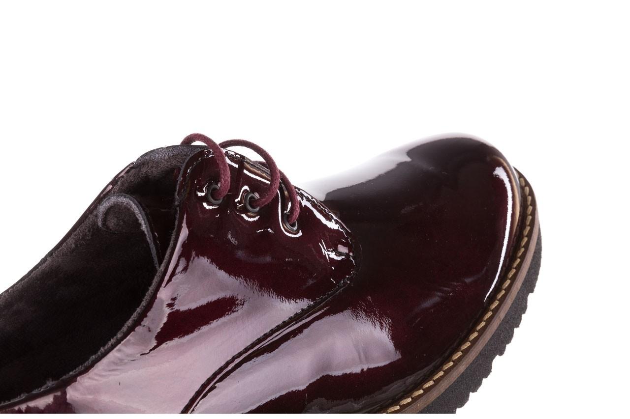 Półbuty pitillos 5790 burdeos, bordowy, skóra naturalna lakierowana  - na obcasie - półbuty - buty damskie - kobieta 21