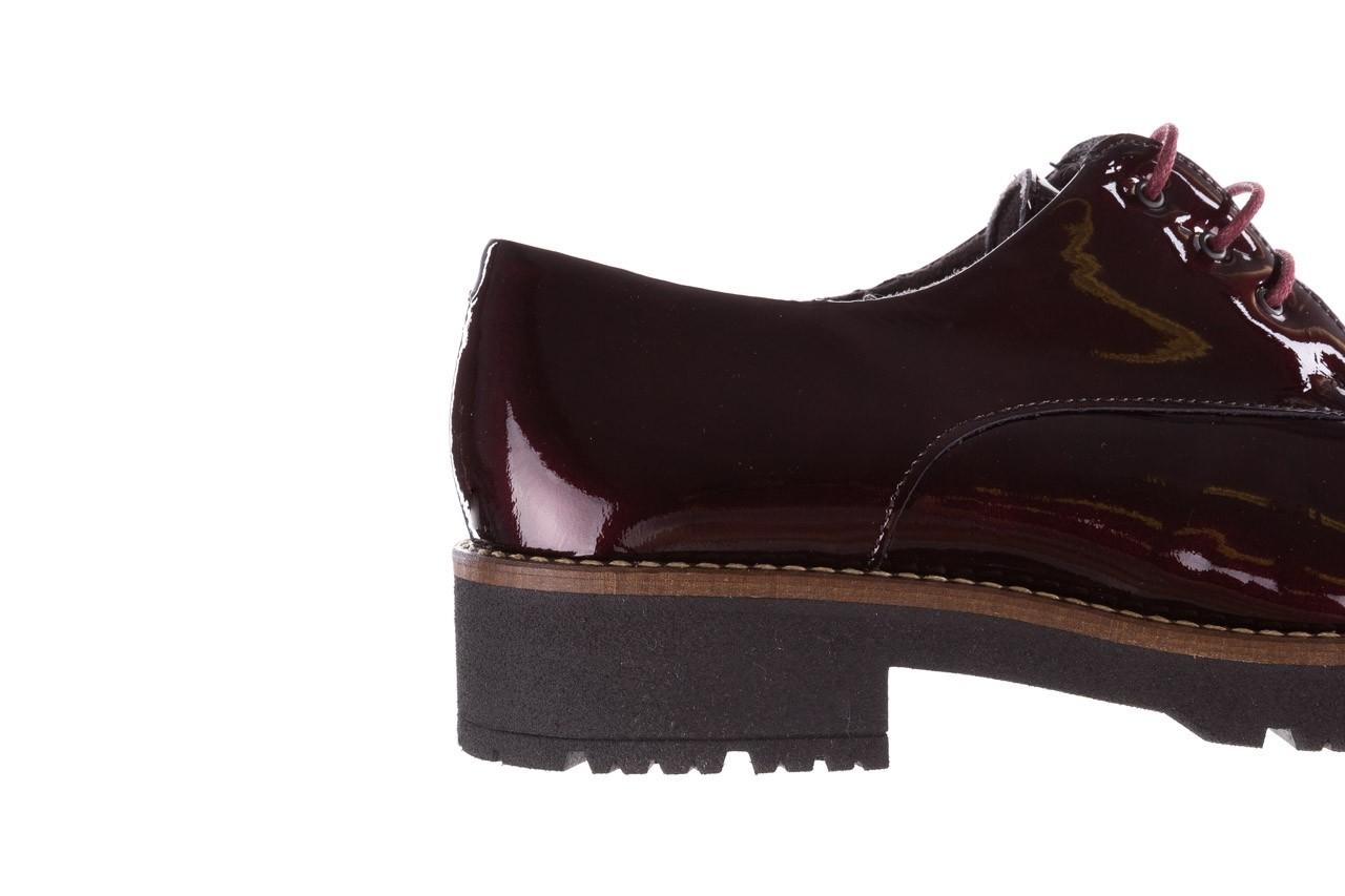 Półbuty pitillos 5790 burdeos, bordowy, skóra naturalna lakierowana  - na obcasie - półbuty - buty damskie - kobieta 20