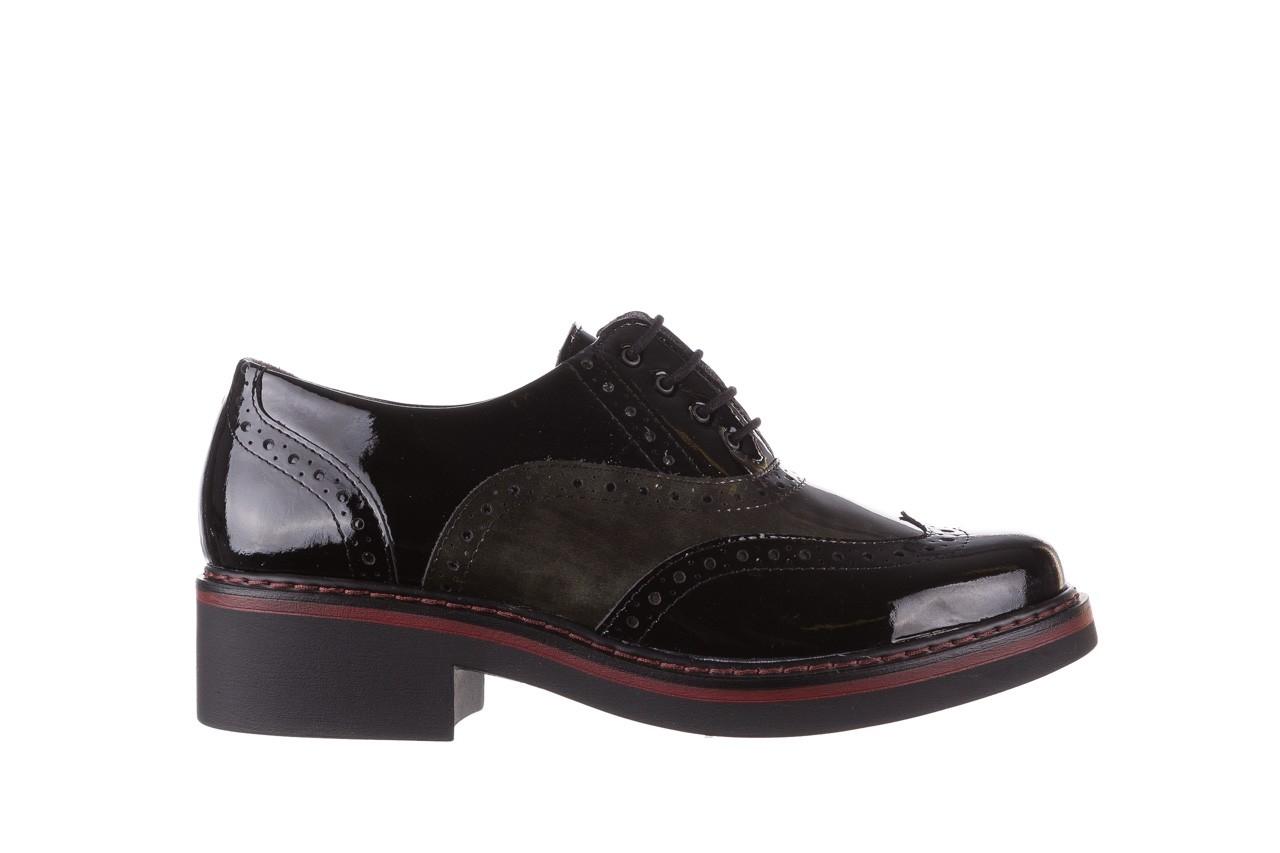 Półbuty pitillos 5821 negro-verd, czarny, skóra naturalna lakierowana - półbuty - buty damskie - kobieta 9