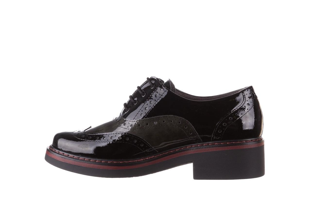 Półbuty pitillos 5821 negro-verd, czarny, skóra naturalna lakierowana - półbuty - buty damskie - kobieta 11