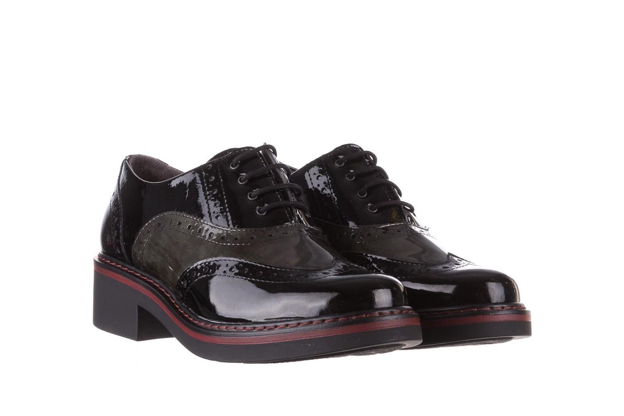 Półbuty pitillos 5821 negro-verd, czarny, skóra naturalna lakierowana - półbuty - buty damskie - kobieta 10