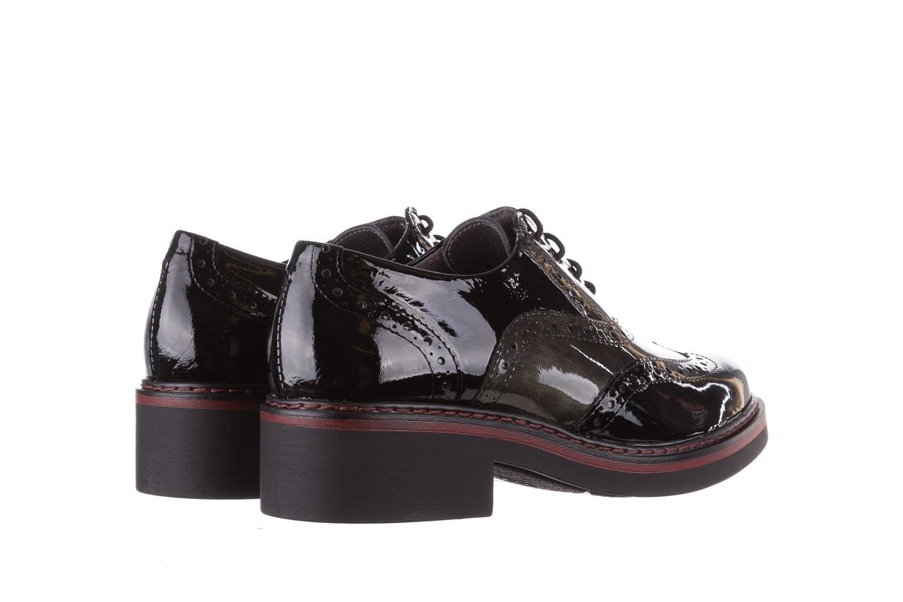 Półbuty pitillos 5821 negro-verd, czarny, skóra naturalna lakierowana - półbuty - buty damskie - kobieta 12