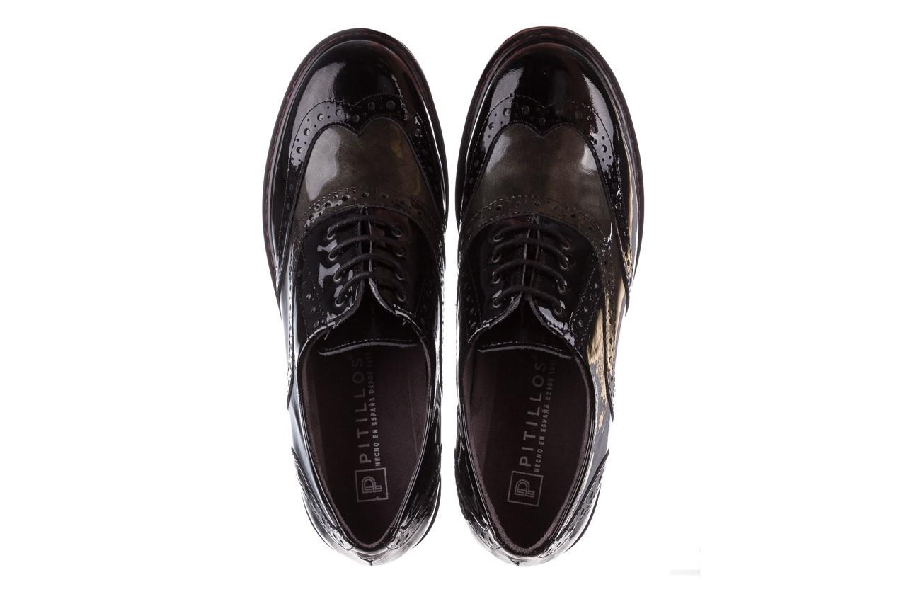 Półbuty pitillos 5821 negro-verd, czarny, skóra naturalna lakierowana - półbuty - buty damskie - kobieta 13