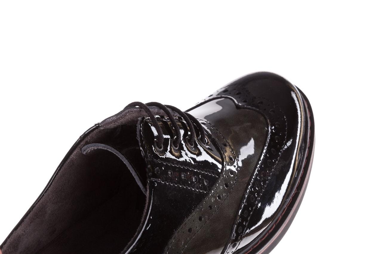 Półbuty pitillos 5821 negro-verd, czarny, skóra naturalna lakierowana - półbuty - buty damskie - kobieta 14